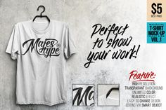 Check out MJT Realistic T-Shirt Mock-Up by dexsarharryfonts on Creative Market