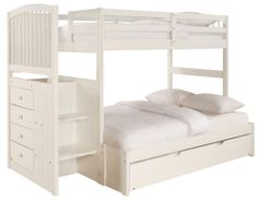 Angelica Twin Over Full Bunk Bed with Trundle by Powell