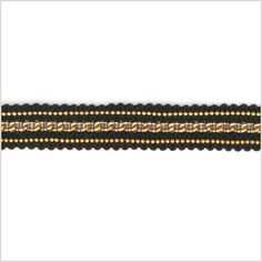 "0.5"" Black/Gold Chain Trim - Trims & Chains - Trims"