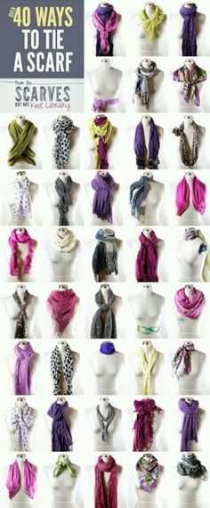 ways to wear scarfs