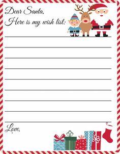 c98c93936ce368a58246c5754493b89c Santa Letter Template Kindergarten Printables on
