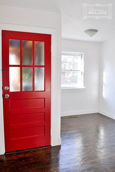 Vintage Red Kitchen Door. I Think The Front Door Needs Some Color (and