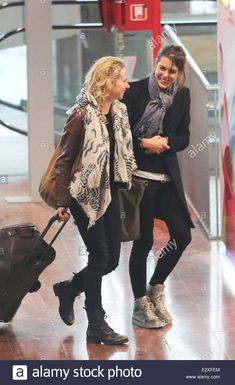 Charlotte Casiraghi and Gad Elmaleh at Nice Airport after attending the Monaco Rose Ball in Monte Carlo  Featuring: Charlotte Casiraghi Where: Nice, France When: 24 Mar 2013  **Not available for publication in France, Germany, Italy, Spain, Norway and South America. Available for The Rest of the World** Stock Photo