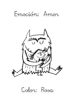 """Me faltaba subir la última emoción del libro """"El monstruo de colores"""": EL AMOR     Reconozco que a los niños les diorisa y algo de vergüe..."""