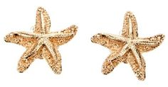 Saint Laurent Starfish Earring in Gold - Lyst