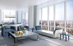 The Charles Condo Private Residences | Private Residential Interiors - Love these chairs