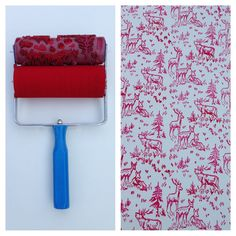Patterned Paint Roller in Aspen Frost Design, and Applicator by Not Wallpaper Patterned Paint Rollers