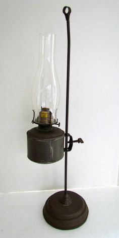 adjustable kerosene lamp | Art Antiques Michigan