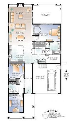 Doral House Plan shotgun house plan house plans Pinterest