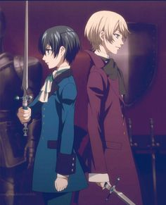 Ciel & Alois. Looks like Ciel is the only one to understand the art of sword fighting, Swords up!
