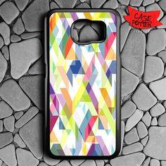 Aztec Geometric Samsung Galaxy S7 Black Case