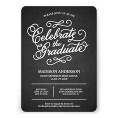 Chalk Script | Graduation Photo Invitation