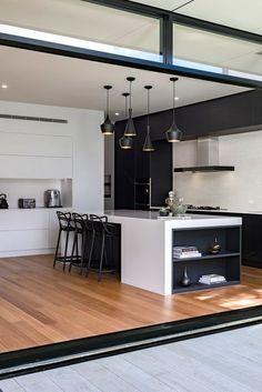 Inspired Modern Black and White kitchen Ideas (55)