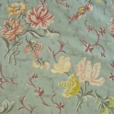 Superb Lee Jofa Lee Jofa Mansart Lampas Floral Upholstery Fabric from Italy