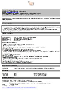 beautiful resume template sample template one page of a fresher