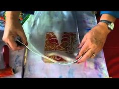 ▶ Silk Scarves with Gelli Printing Workshop Art and Soul 2014 - YouTube