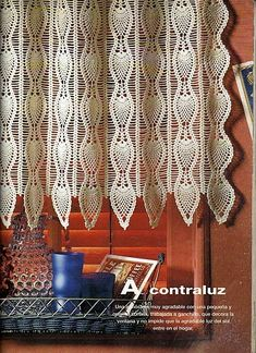 Szydełkomania ~ curtain graph pattern -- just beautiful. Kinda looks like tatting to me. Wish Mom taught me how.