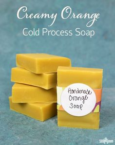 Back to Basics: Creamy Orange Cold Process Soap Tutorial