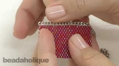 How to Add Chain to Peyote Bead Weaving