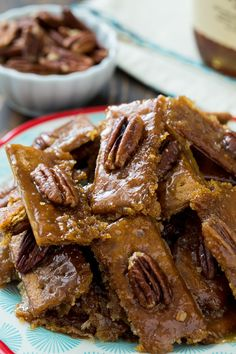 Bourbon Graham Cracker Candy is so buttery and crunchy with just the right amount of bourbon flavor. It's easy to make and keeps well in a ziptop bag. This southern treat is perfect for a Kentucky Derby Party. Bourbon Recipes, Fudge Recipes, Candy Recipes, Sweet Recipes, Cookie Recipes, Dessert Recipes, Dessert Bars, Drink Recipes, Yummy Recipes