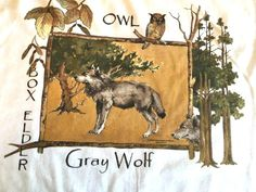 Gray Wolf T Shirt  Owl,  Box Elder  Adult XL White Custom Orders Welcome #Harrington #BasicTee