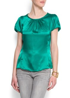 blusa mujer mango verde