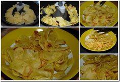 Chips avec  Actifry      -       5 Pommes terre moyenne  1/2 c   huile Sel On prend les patates, on les coupes très fines (1 mm   robot ou  mandoline), on les lave à l'eau jusqu'à ce qu'elle soit claire, on les sèche dans   torchon .     On dispose les tranches fines dans la friteuse, on ajoute 1/2 C   huile on met le timer à 25 mn et on met en marche. De temps en temps, on vient les séparer et surveiller.     On sort les chips dans un bol, on ajoute du sel puis on les laisse refroidir.