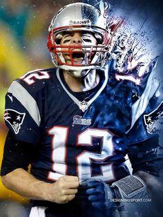 NFL: Tom Brady, New England Patriots on Behance