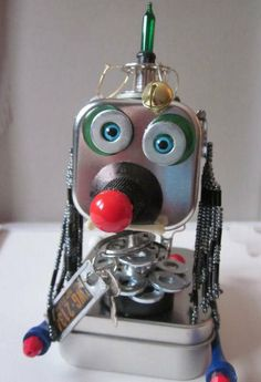 Robot Dog Sculpture by RobotsRebrained on Etsy, $30.00