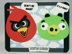 Paper Creations by Nilda: Angry Birds Invitations