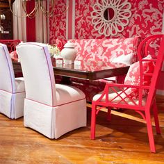 Lily Pulitzer dining room