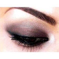 eye makeup, purple and silver