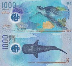 Maldives 1000 Rufiya Green Turtle and Manta Ray International Bank, International Society, Money Games, Spirograph, Green Turtle, Show Me The Money, Line Art, Moose Art, Stamp