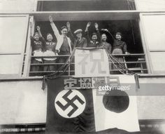 News Photo : A group of young Japanese doing the Nazi salute ....