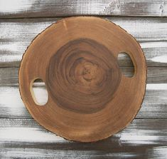 Rustic Wood Serving Boards | Acacia Wood Slice Cheese Board, Rustic Wooden Serving Tray, 13 x 1.25 ...