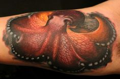 Octopus by Mat Valles #InkedMagazine #sealife #octopus #tattoo #tattoos #Inked #ink #art