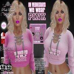 Second Life Gift On Wednesdays We Wear Pink.  Feel free to stay in the group, because group members get 10% off on all purchases!