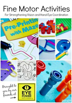 The Best Collection of Learning Activities for Developing Fine Motor Skills and Eye Hand Coordination by @Amanda Boyarshinov