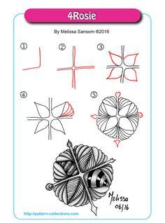 4Rosie tangle pattern  by Melissa Sansom