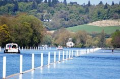 River and Temple Island, showing the Regatta course at Henley on Thames