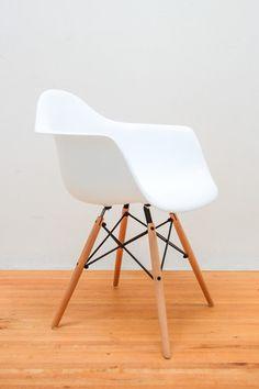 Eamesy Style Armchair Satin Wood-Base-Light $105 angies desk