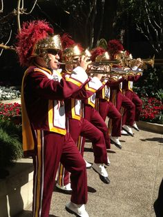 We were feeling the Spirit of Troy today, with an up close and personal serenade from the USC Trojan Marching Band! What a special treat!