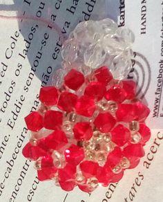S019 - Sally Anel feito com cristais  swarovski e missangas de vidro by AKARTES on Etsy
