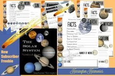 SUBSCRIBER FREEBIE- Solar System Notebooking Pages. Cover the planets and more! 20 full color pages!
