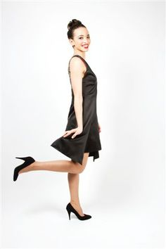 A- line silk dress with v neck. We custom make each dress to fit your curves perfectly. Prices start at 295 Euro's.