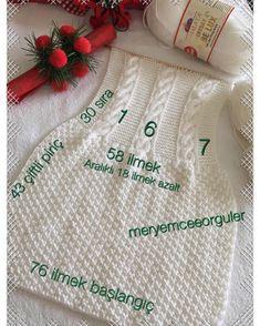 Este posibil ca imaginea să conţină: text Baby Knitting Patterns, Knitting For Kids, Crochet Patterns, Knit Baby Dress, Crochet Baby Clothes, Baby Vest, Baby Cardigan, Barbie Basics, Diy Bebe