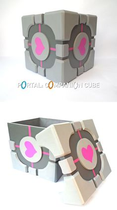 A favorite of all Portal fans, the Weighted Companion Cube (or Companion Cube for short) is loved by all who enter Test Chamber 17 when presented with the lovable, pseudo-character as it provides comfort that no other being can provide; and now, you can make your own Companion Cube to provide you with all the comfort you could ever want!