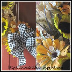 Decorated Chaos: Fall Wreath