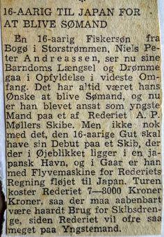 Peter Andreasen holdt Bogøs søfartstradition i hævd. I 1950 var den 16-årige Peter på vej til det store eventyr: hyre på et nyt Mærsk-skib i Japan.