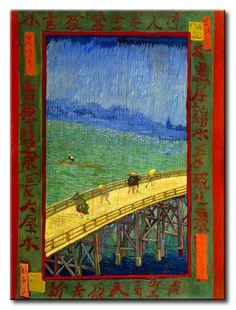MU_VG2005 t_Van Gogh _ Bridge in the rain (after Hiroshige) / Cuadro Arte Famoso, Puente en la lluvia